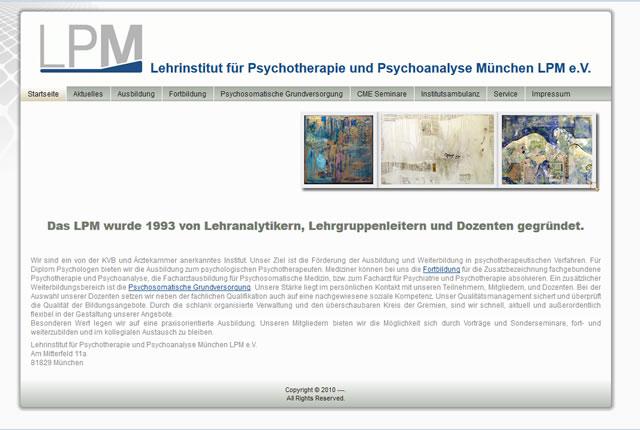 Lehrinstitut für Psychotherapie und Psychoanalyse München LPM e.V.